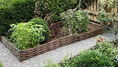 "WE-47, Woven Willow Edging, 16""H x 47""L"