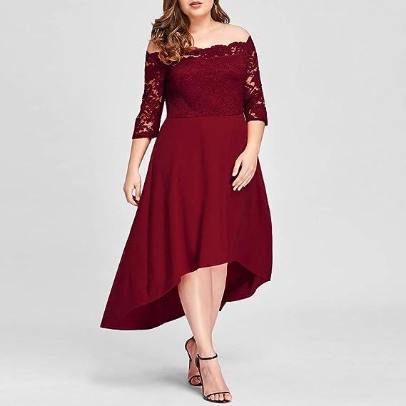 459f369d9a2 Amazon.com  Women Off Shoulder Long Maxi Dress Plus Size Cuekondy Fashion  Lace Long Sleeve Casual Irregular Floral Evening Party Dresses  Sports    Outdoors