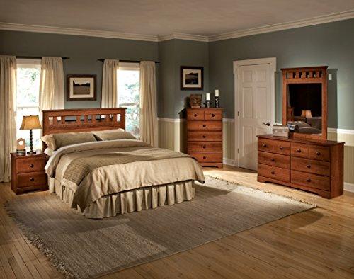 Standard Furniture Orchard Park 6-Drawer Dresser, Golden Cherry