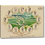 "Our Baseball Heroes - Captains of The Twelve Clubs in The National League by Vintage Sports - 23"" x 30"" Gallery Wrapped Giclee Art Print on Canvas - Ready to Hang"
