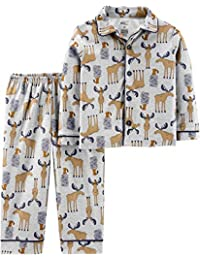 Baby and Toddler Boys' 2-Piece Coat Style Pajama Set