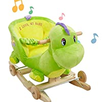 Lucky Tree Rocking Horse Toddler Baby Plush Ride on Toys Rocker Chair for Kids 18 Months 4 Years