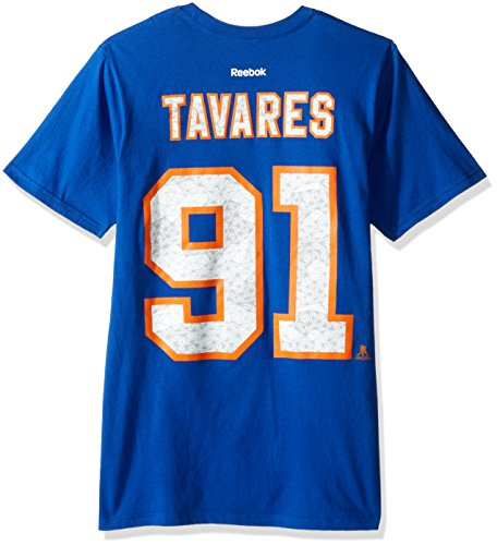 (Reebok NHL New York Islanders Adult Men Fractal Camo Name S/Tee,Large,Blue)