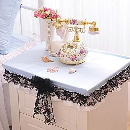 Lelva lace ruffle girls bedside table cloth blue tablecloth lelva lace ruffle girls bedside table cloth blue tablecloth nightstand table covers 20quot watchthetrailerfo