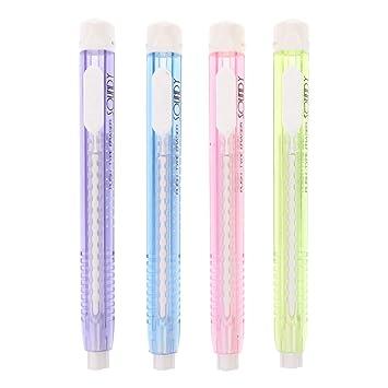 Kinder Geschenk Spielzeug Schreibwaren Studenten Schulbedarf mechanischer Radiergummi in Stiftform einziehbar Meiqqm Kreativer