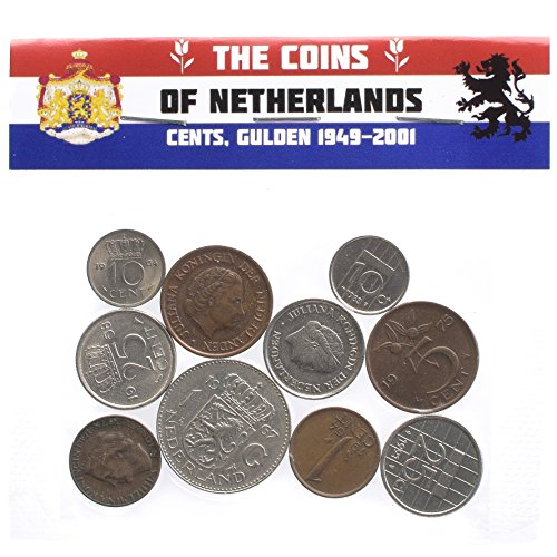 Dutch Kingdom of The Netherlands Coins Cents Gulden Period 1949-2001 Pre-Euro (10 Cent Euro Coin)