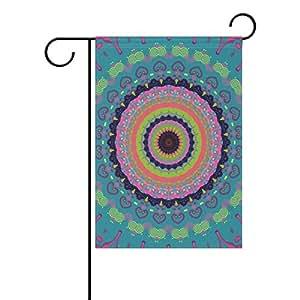 "donnapink Mandala impermeable poliéster bandera de Jardín 12""X 18"" temporada casa Banner"