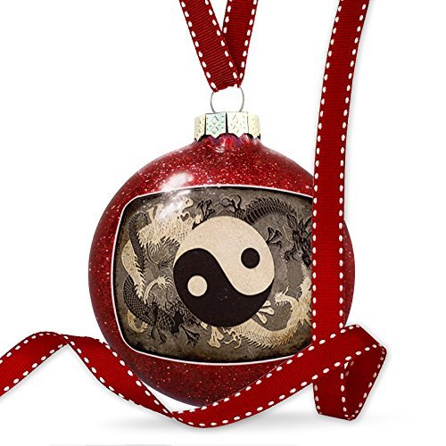 Leiacikl22 Unique Designed Christmas Ornament Yin and yang, ying dragon Ornament (Copper Yang Yin Ornament)