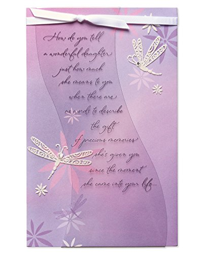 American Greetings Dragonflies Birthday Card for Daughter with Rhinestone