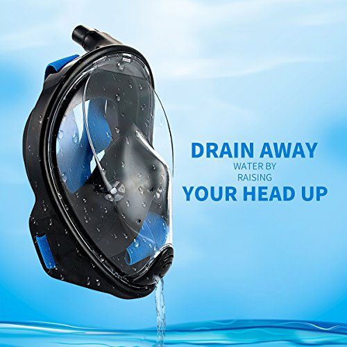 SeeWorld 180° Panoramic Full Face Snorkel Mask -Larger Viewing Area Free Breath Technology with Anti-fog and Anti-leak Snorkeling Design for Adults,Youth and Kids Photo #6