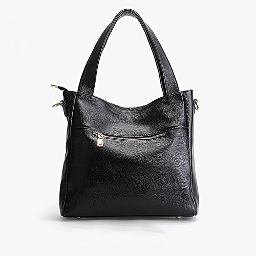fashion portés main épaule Sac cuir 1823 DISSA Sac bandoulière à femme LF Sac main Noir en portés Sac XO6wPOqn