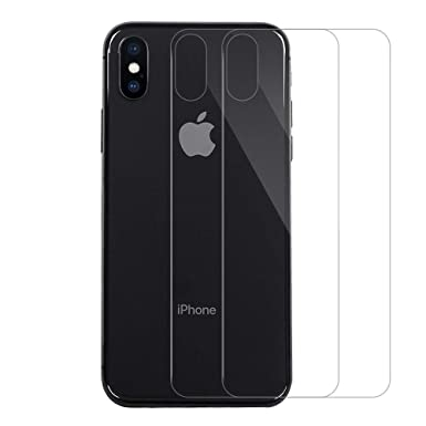 online store d99a6 02d62 QULLOO iPhone X/iphone XS Back Screen Protector Temepred Glass Singularity  Products iPhone X Back Film Anti-Fingerprint Case Replacement for Apple ...