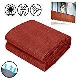 Breathable Balcony Privacy Screen Cover, HDPE Fabric Protection Privacy Fence Cover Mesh Sun Wind Protection, UV Protection, for Patio, Fence, Backyard, Porch, 0.9 X 25 M