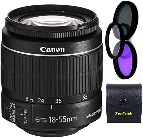 Canon 18-55mm is STM Lens White Box + 3pc High Definition Filter Kit UV CPL FLD