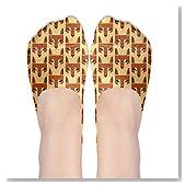 Zero Red Fox Head Women No-Show Casual Liner Socks Low Cut Ankle Socks Boat Socks