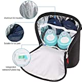 Lekebaby Insulated Baby Bottle Tote Bags for Travel Double Baby Bottle Warmer or Cool
