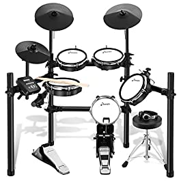 Donner DED-200 Electric Drum Set Electronic Kit with Mesh Head 8 Piece, Drum Throne, Sticks Headphone and Audio Cable…