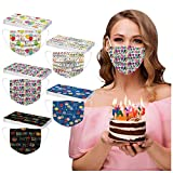 AIHOU Disposable Masks for Women, Happy Birthday