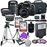 Canon EOS Rebel T6i 24.2 MP EF-S Digital SLR Camera with Canon EF-S 18-55mm f/3.5-5.6 STM Zoom Lens + Auxiliary Telephoto & Wide Angle Lenses + 2pc 16GB Memory Cards + Canon Bag + 3pc Filter Kit