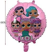 LOL Merbaby Sorpresa Muñeca Globo Globo para Baby Shower Fiesta de Cumpleaños de Cumpleaños Suministros de Decoración Regalo de los Niños Paquete de 4