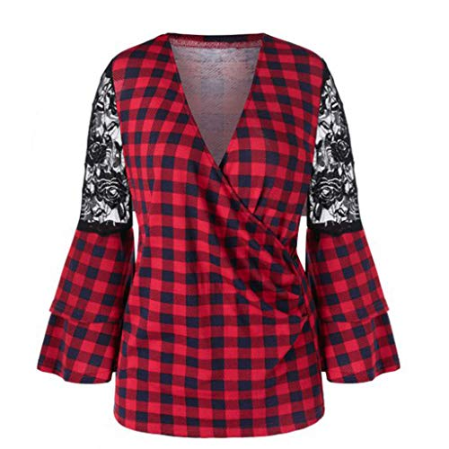 Fashion Tops 955 Londony ♥‿♥ Women's Loose Fit Plaid T