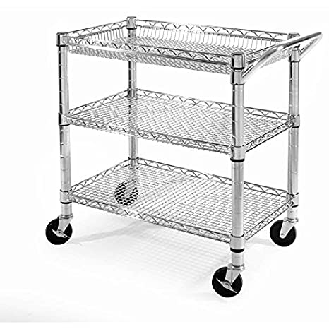Amazing Kitchen Utility Cart With Granite Top Walmart Wheels Amazon Heavy Duty  Rolling Storage Island Portable New