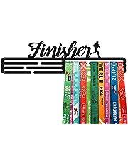 United Medals FINISHER, Sport Medaille Hanger Display | Mat Zwart Staal houder medaillehanger (Max. 48 Medailles)