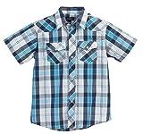 Gioberti Boys Casual Western Plaid Pearl Snap Short Sleeve Shirt