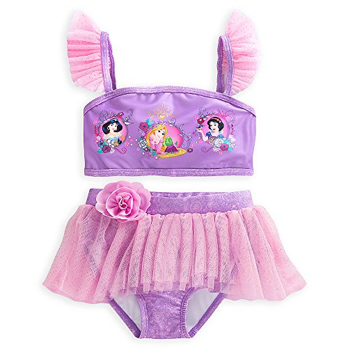 Disney Princess Deluxe Swimsuit for Girls - 2-Piece Size 5/6 Pink