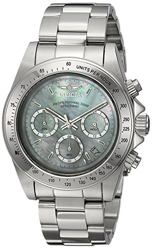 Invicta Men's Connection Quartz Watch with Stainless-Steel Strap, Silver, 0.75 (Model: - Face White Dial