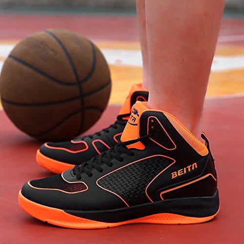 Die hohen Sneakers des Mannes Breathable Sport beschuht BasketBall Schuh Orange