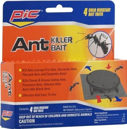 Pic at-4 C/S Ant Trap 4 Pack (Pack of 3)