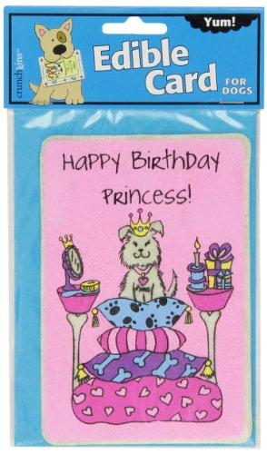 Crunchkins Edible Crunch Card, Birthday (Edible Rawhide Card)