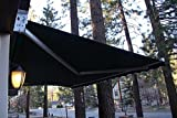 STRONG 20'w x10'd Outdoor Patio Cover Yard Manual Awning Retractable Sun Shade Shelter Color Evergreen
