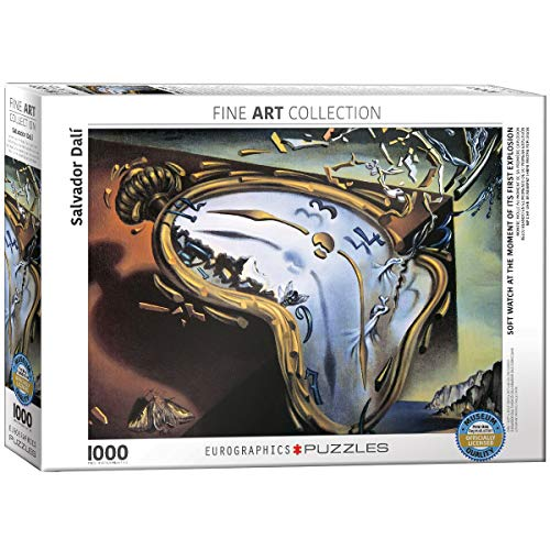 (EuroGraphics Soft Watch At Moment of First Explosion (Melting Clock) by Salvador Dali 1000 Piece Puzzle)