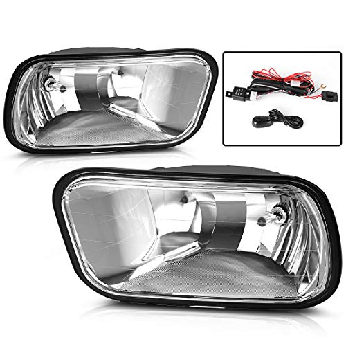 AUTOSAVER88 Factory Style Fog Lights For Dodge Ram 1500 2009-2012 Ram 2500 2010-2014 Ram 3500 2010-2012 (Clear Lens with Bulbs & Wiring Harness)
