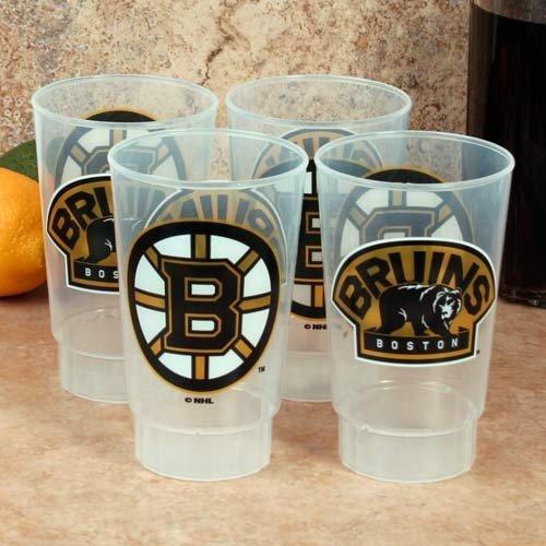 NHL Boston Bruins 4-Pack 16oz. Plastic Cups