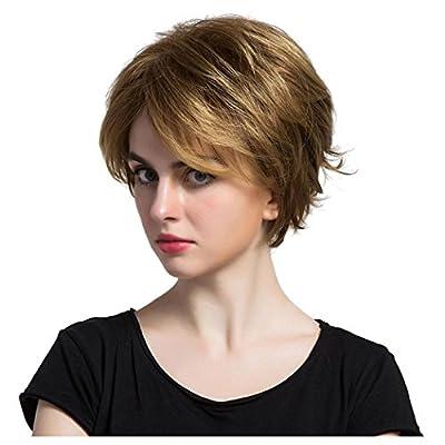 Womens Blonde Short Wigs, Inkach Stylish Girls Heat Synthetic Full Bang Hair Wig