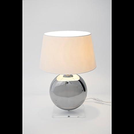 Lámpara de mesa holländer 1-foco, bolos, cerámica plateado ...
