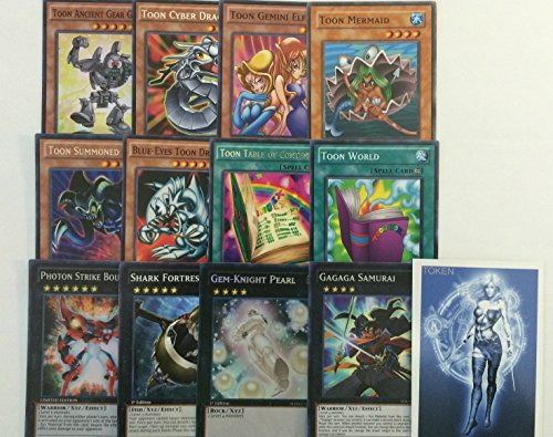 YUGIOH Tournament Ready Toon Deck with Complete Extra Deck and exclusive Phantasm Gaming Token - Tournament Ready Gear Deck