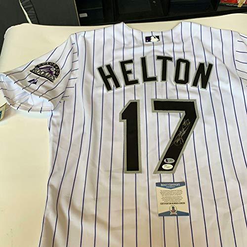 (Todd Helton Signed Jersey - #17 Game Model Beckett COA - Beckett Authentication - Autographed MLB Jerseys)