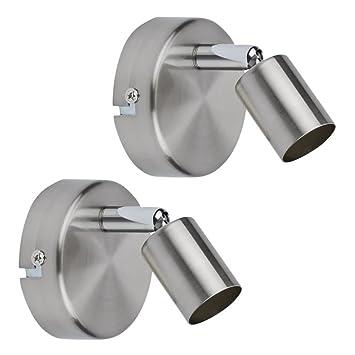 Biard Boston Pack de 2 Porta Bombilla Orientable de Interior para Focos GU10 en