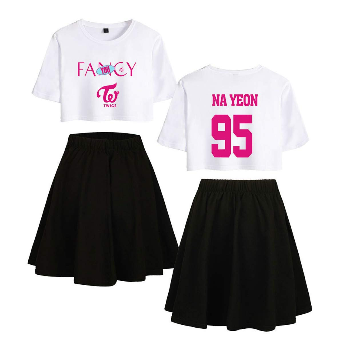 Twice Fancy You Conjunto de Dos Piezas Tops Ocasionales + Falda ...