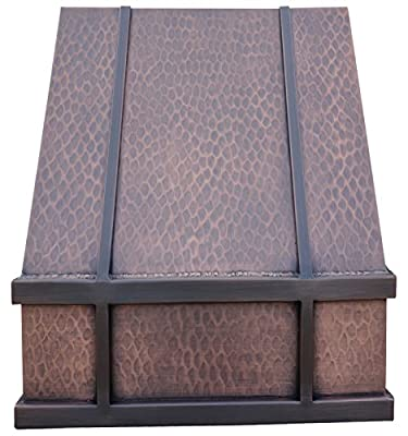 Copper Best H11 362136L Copper Range Hood Wall Mount 36 inches with 660CFM High Effeciency Exhaust Fan