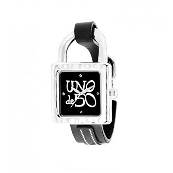Reloj Uno de 50 Es la hora REL0102NGRGR0U Mujer Negro: Amazon.es: Relojes