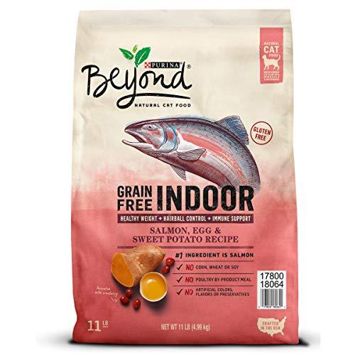 Purina Beyond Indoor, Grain Free, Natural Dry Cat Food; Grain Free Salmon, Egg & Sweet Potato Recipe - 11 lb. Bag