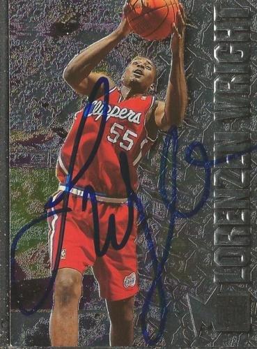 Lorenzen Wright 1996 Metal Autograph RC #180 Clippers Memphis