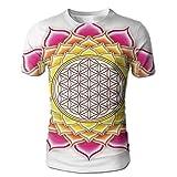 Edgar John Flower Of Life Sacred Geometry Pattern Inside Lotus...