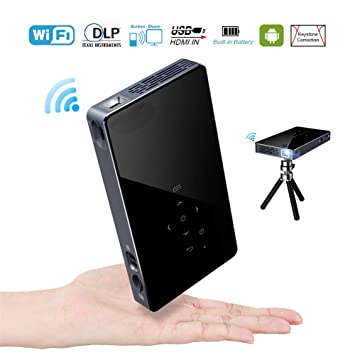 ZXL Mini proyector móvil HD, proyector Bluetooth 1080P Android 7.1 ...