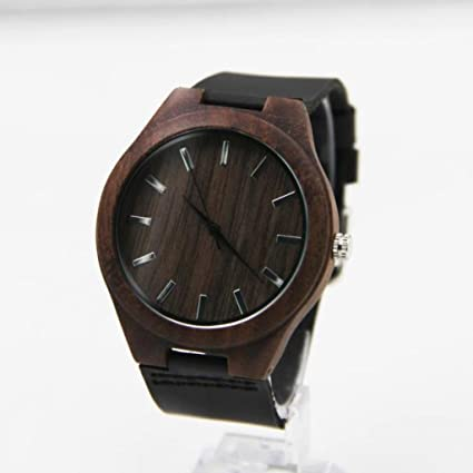 Amazon.com: Wooden Watches, Emubody Leather Bamboo Wooden Watches: Watches